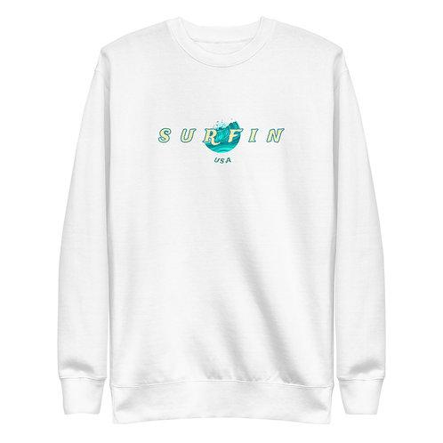 Women's Surfin Sweatshirt | White + Black