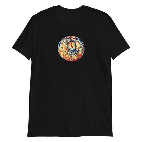 Women's Handpan Graphic T-shirt   Black + White