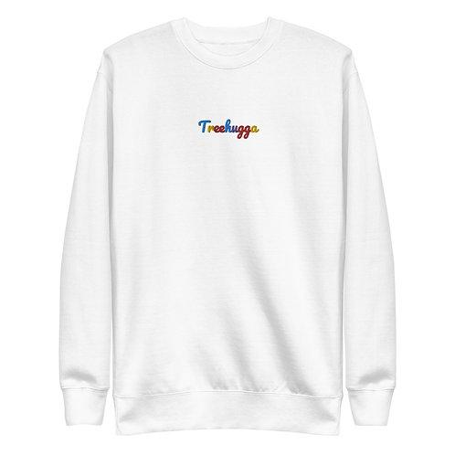 Women's Embroidered Treehugga Original Colour-way Sweatshirt   White