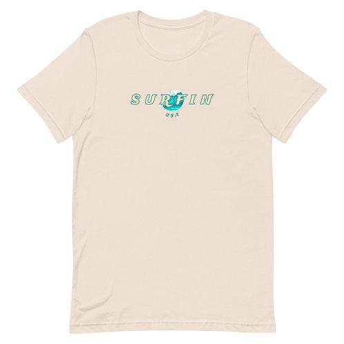 Men's Surfin' T-shirt | Cream + Black + White