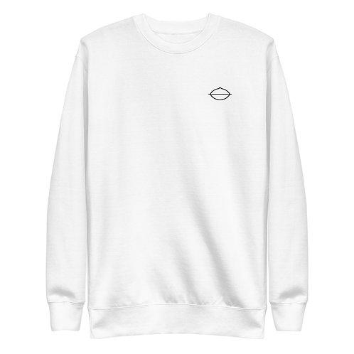 Women's Handpan Sweatshirt   White + Grey