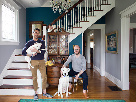 Published: Kevin and Barrett's Historic Westwood Cincinnati American Foursquare for Houzz