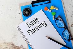 Estate Planning - Business concept top v