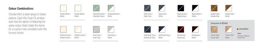 Rehau Flush Sash Window Colour Options