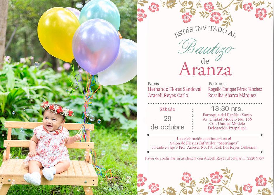Invitación Bautizo