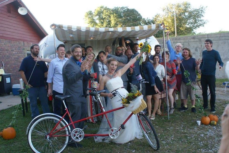 paul andrea wedding front door