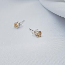 STG Citrine Studs - Minturn Jewellery Ltd