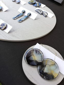 Black & Gold hoop earrings - Studio Vos Creative