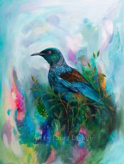Colourful Tui (Art Print) A5 - A3