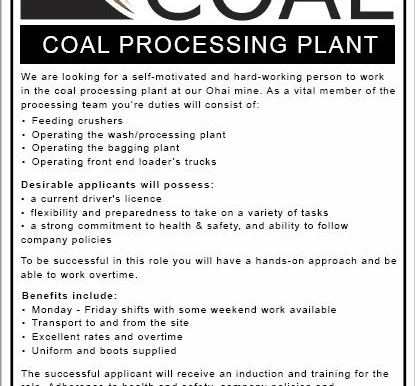 Coal Processing Operator