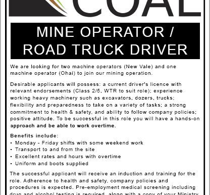 Mine Operator / Road Truck Driver