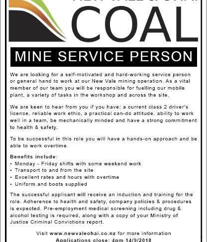 Mine Service Person