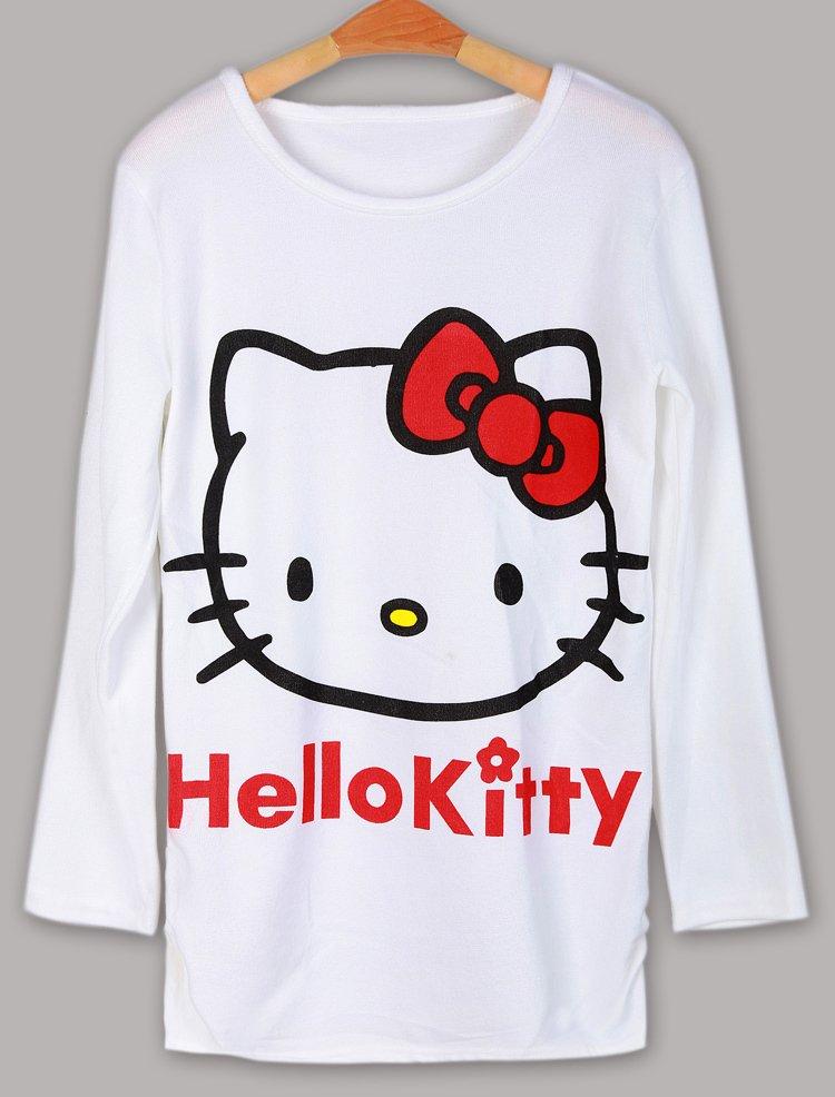 New-fashion-tops-2012-Hello-kitty-long-sleeve-loose-T-shirt-women