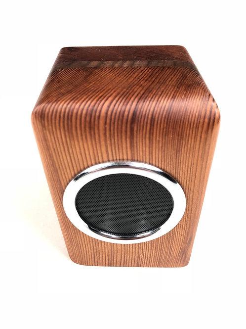 Old-Growth Redwood Speaker w/ Walnut Accent
