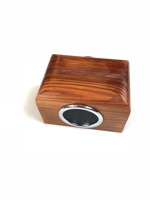 Old-Growth Redwood Speaker w/ Walnut Accent
