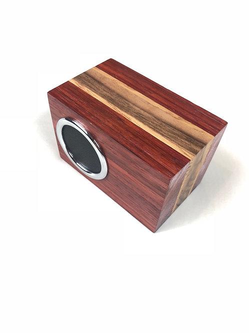 Padauk Wireless Speaker w/ Walnut and Ash Inlay