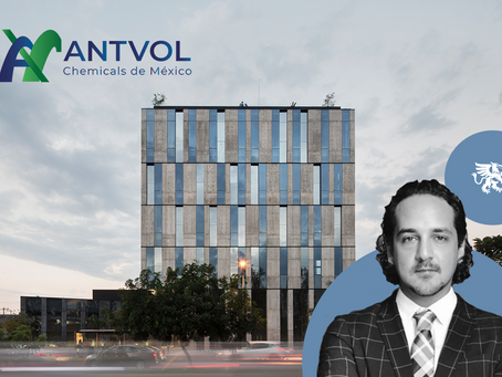 Antvol Chemicals de Mexico signs 3-year lease in Allius office building in Guadalajara.