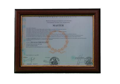 cadre remise de diplome