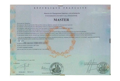 cadre de diplomé