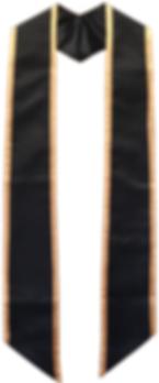 echarpe universitaire bicolore