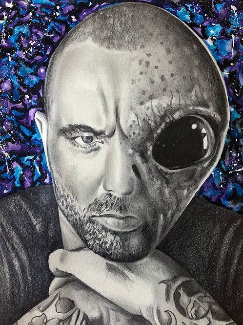 Joe Rogan Alien Portrait