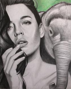 "The Elephant 8""x10"""