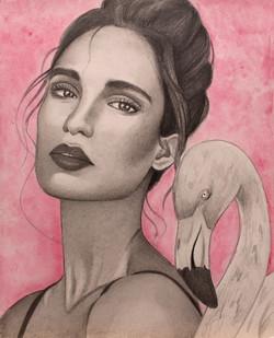 """The Flamingo 8""""x10"""""""