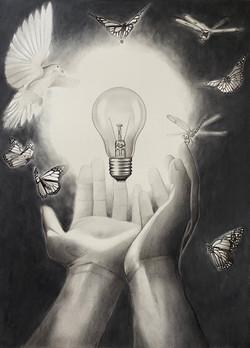 "Shine Your Light 18""x24"""