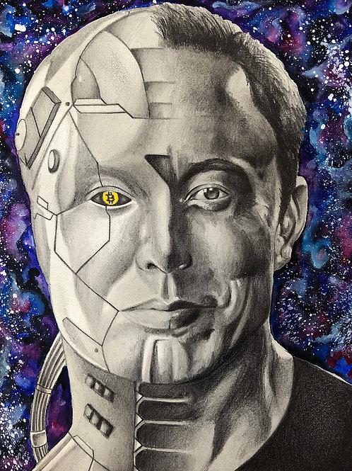 Elon Musk Robot Portrait