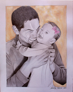 Father and Daughter Portrait