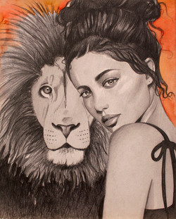 """The Lioness 8""""x10"""""""
