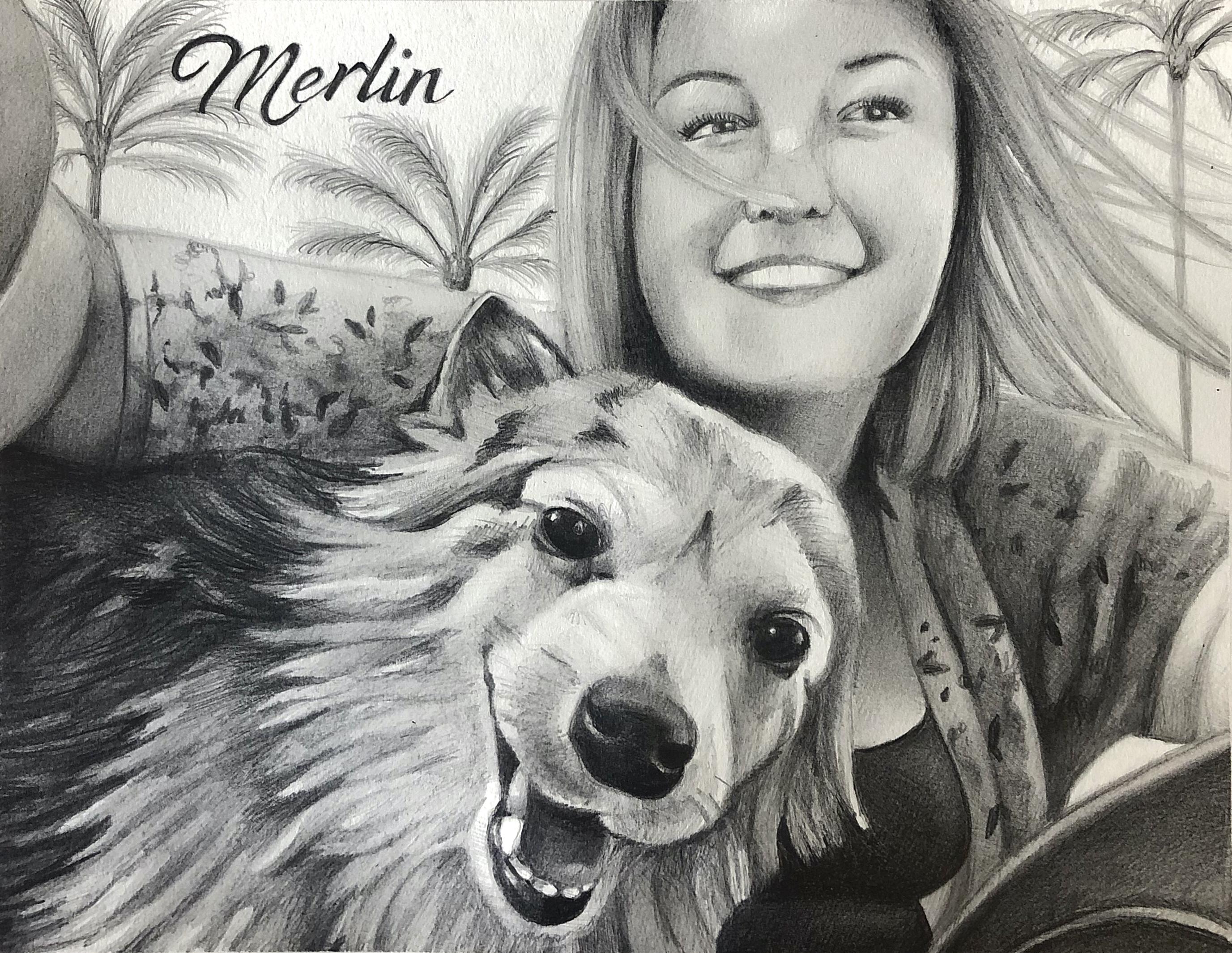 Pet Portrait-Merlin
