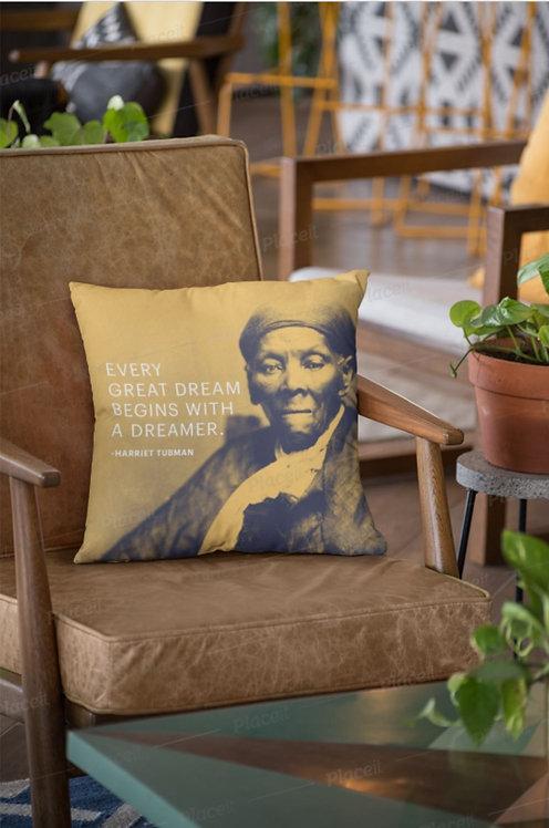 """Harriet Tubman """"Dreamer"""" Pillow"""