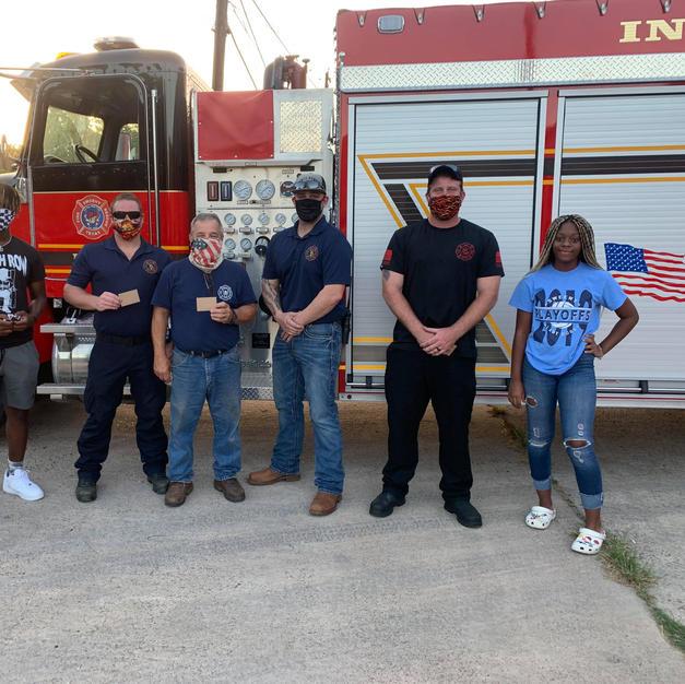 Covid Kindness - Sweeny Volunteer Fire Dept.