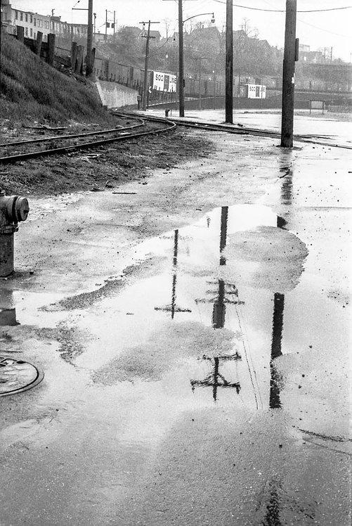 Commerce Street in Rain