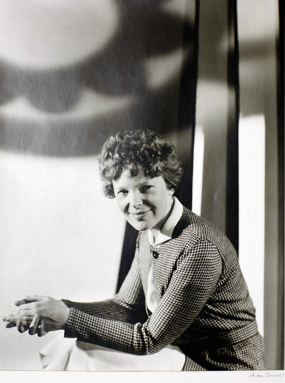 Larry loved then collected this rare portrait of Amelia Earhart in fashionable dress. Larry and his wife Pam later donated this artwork to a fund raising effort used to commission a new classical music composition, a concerto for tuba and orchestra.