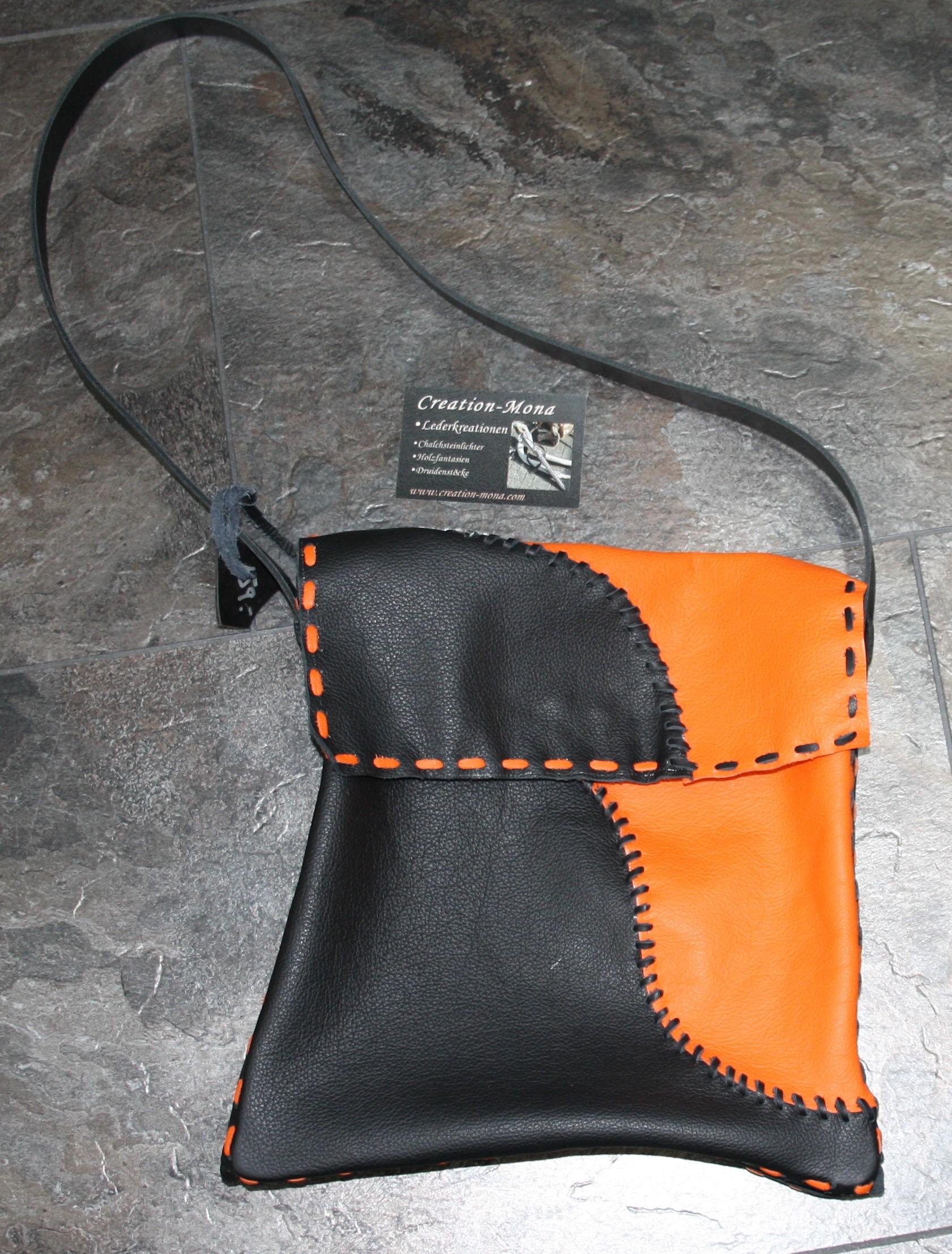 Tasche schwarz/orange