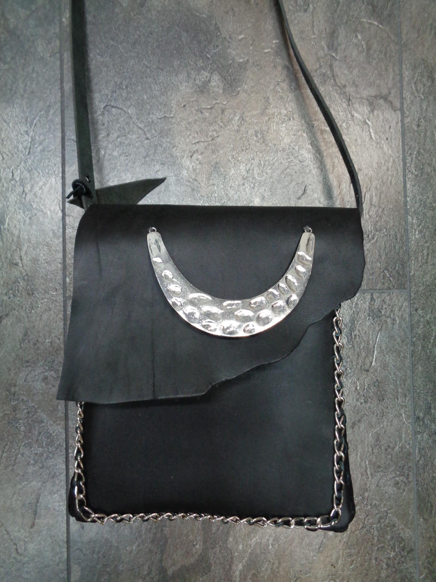 Tasche schwarz-metall