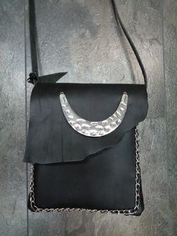 Tasche schwarz-metal
