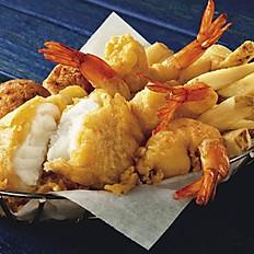 Fried Prawns & Fish Combo