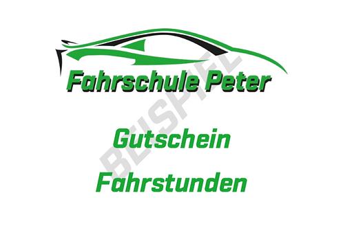 50.- CHF Fahrstunden Gutschein.