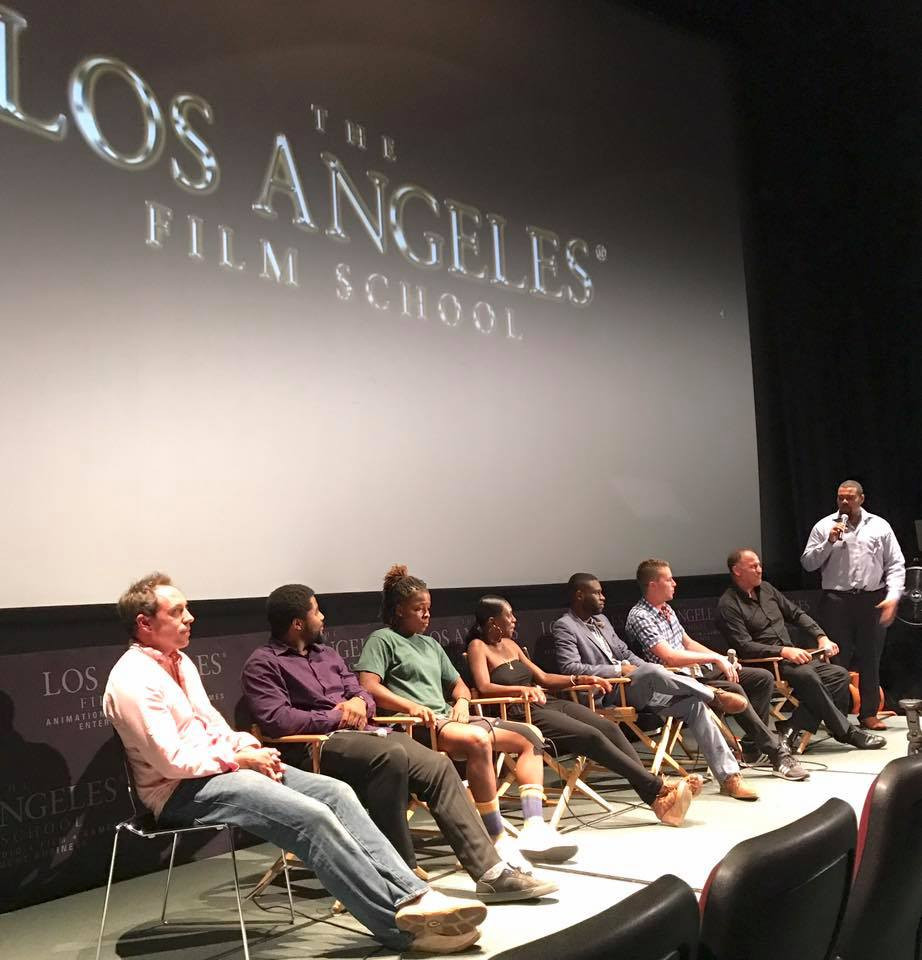 Q & A at the LA Film School theatre.