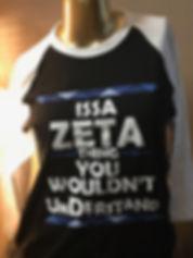 Zeta Phi Beta baseball tee