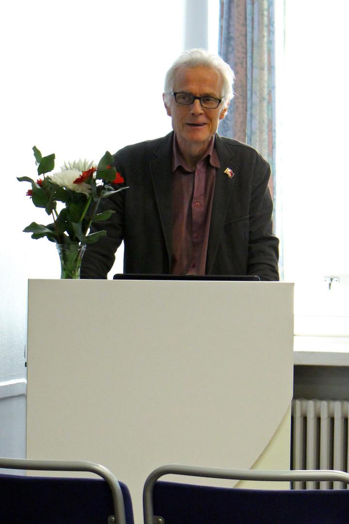 KTP:n Mikko Vartiainen piti kaksi eri alustusta, joista toinen koski unohdettuja saamelaisia