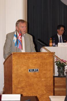 Ruotsi-Korea-seuran puheenjohtaja Christer Lundgren