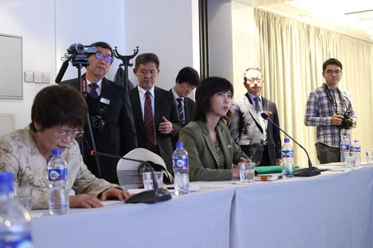 Tilaisuus kuvattiin KDKT:n uutisia varten
