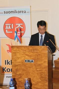 Ulkomaisten kulttuurisuhteiden komitean Euroopan osaston päällikkö Kyong Il Ryu