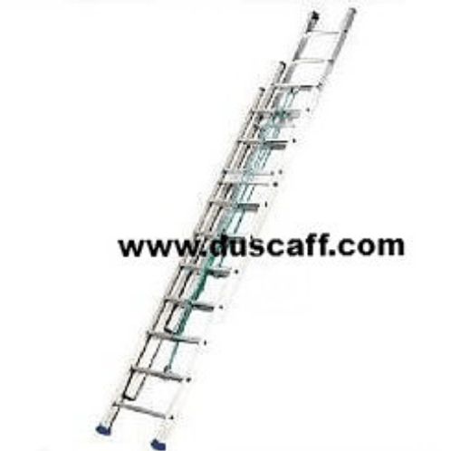 Triple Section Straight Aluminium Ladder | 15.0 meters | 17 + 17 + 17 Steps