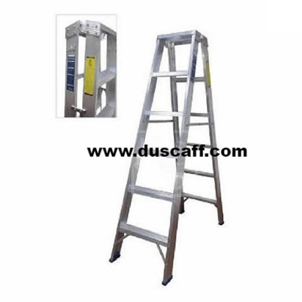 Heavy Duty Two Way Aluminium Ladder | 5 meters | 17 Steps | Duscaff