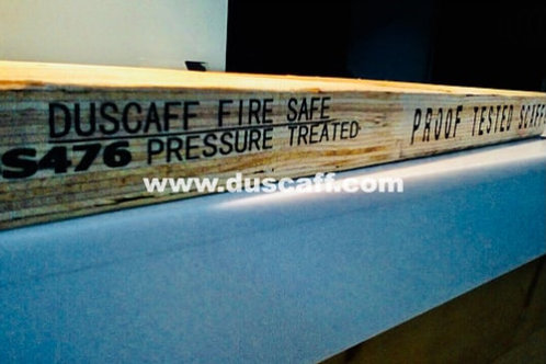 Duscaff Fire Safe OSHA Proof Tested LVL Scaffold Board | BS476 | 3.98m long